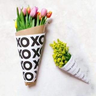 Mother's Day Printable Flower Wrap