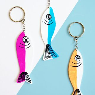 DIY Fish Keychains
