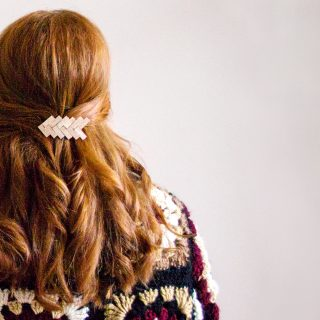 DIY Herringbone Hair Clip