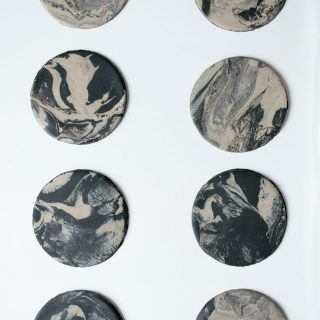 DIY Clay Marbled Coasters