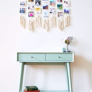 Macrame Photo Wall Hanging