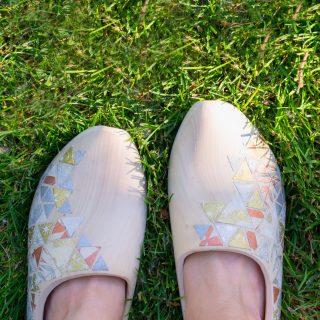 Wood Shoe Decoupage