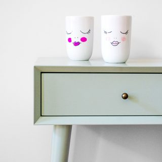 Lady Face Cups